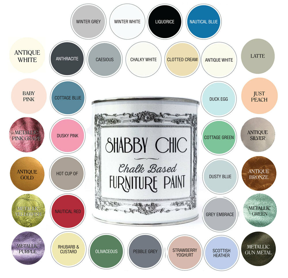 shabby chic furniture paint chalky matt finish water based paint 125ml ebay. Black Bedroom Furniture Sets. Home Design Ideas
