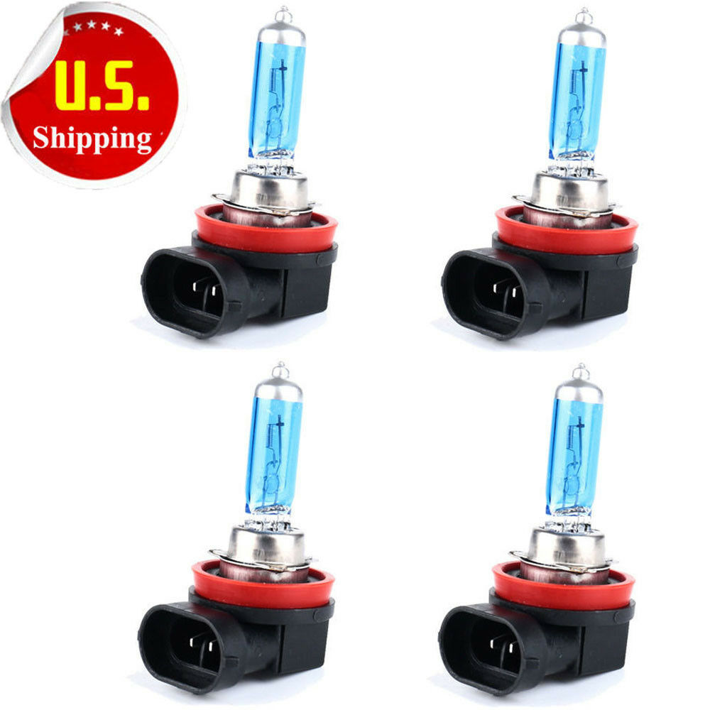 hotsystem 4pcs h11 6000k xenon gas halogen headlight white. Black Bedroom Furniture Sets. Home Design Ideas