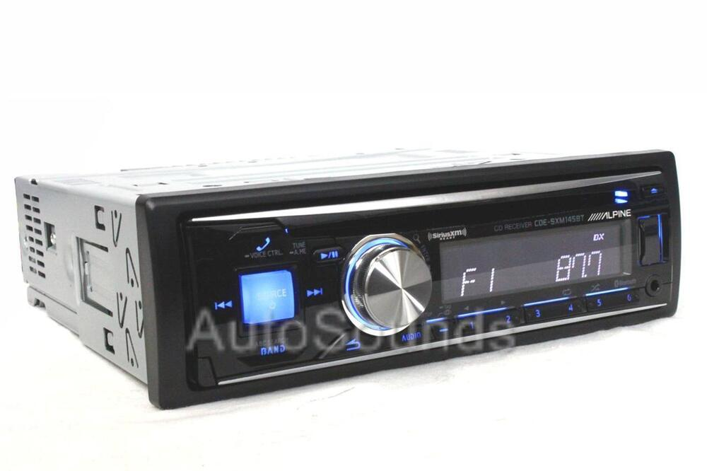 alpine single din cde sxm145bt cd mp3 wma player bluetooth. Black Bedroom Furniture Sets. Home Design Ideas