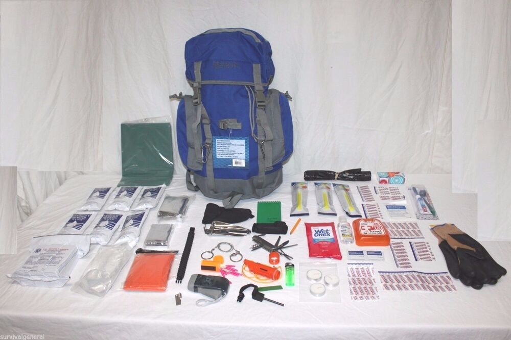 72 Hour Survival Kit Water Food Backpack Gear Bug Out Bag