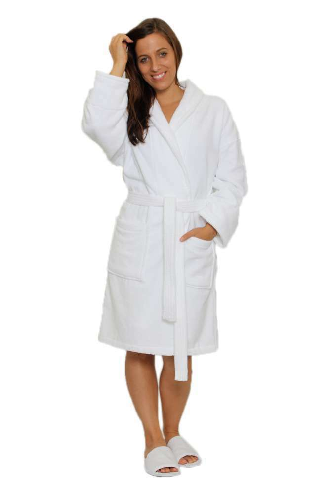 bathrobe 100 cotton terry cloth white velour kimono women men bath robe cotton ebay. Black Bedroom Furniture Sets. Home Design Ideas