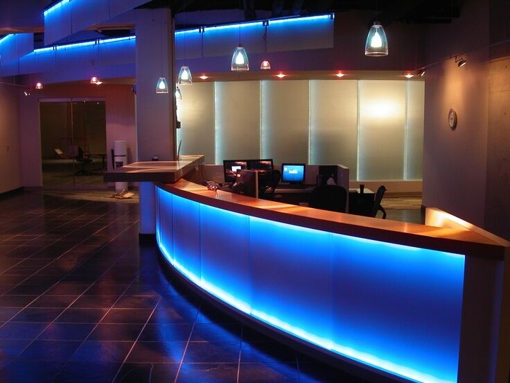 Reception Desk Accent Lighting All Colors New Lifetime