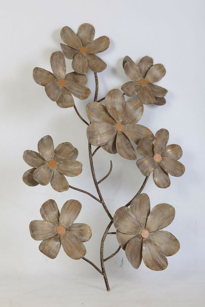 Metal Sculptures And Art Wall Decor: CHERRY BLOSSOM METAL FLORAL WALL ART FOR HOME & OFFICE