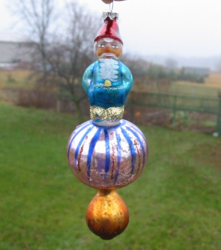 cody foster glass gnome on toadstool ornament pink christmas