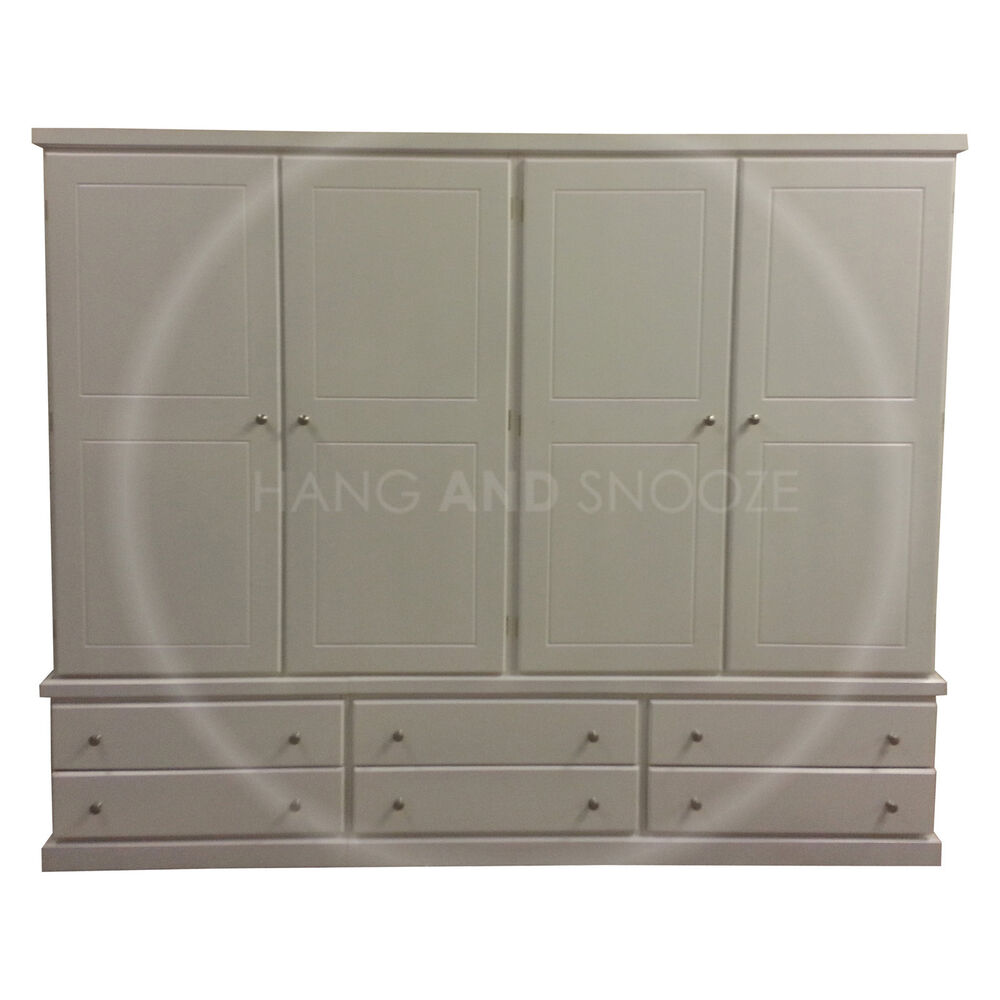 Hand made cambridge quad drawer wardrobe white assembled