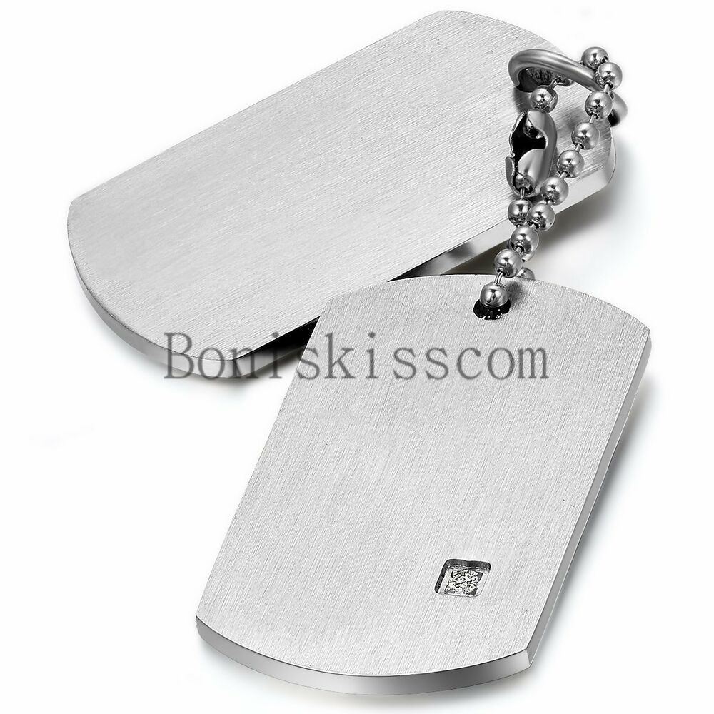 stainless steel military army dog tag men 39 s women 39 s couple. Black Bedroom Furniture Sets. Home Design Ideas