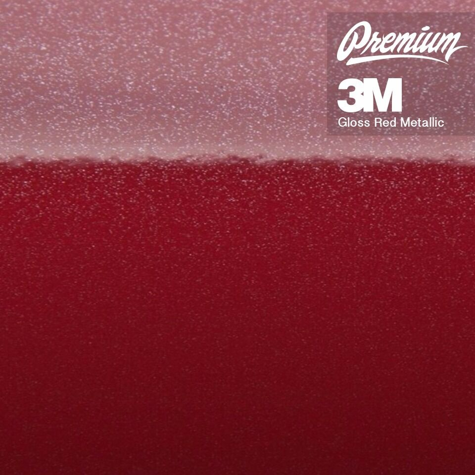 3m 1080 Metallic Red Gloss Vinyl Roll For Car Wrapping Ebay