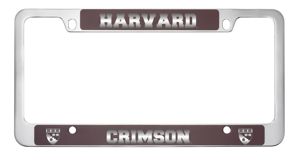 Harvard University -Metal License Plate Frame-Burgundy | eBay
