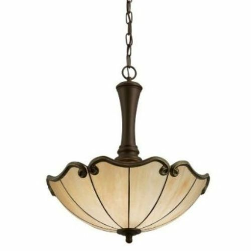 New Portfolio 18 in W Aged Bronze Pendant Light with