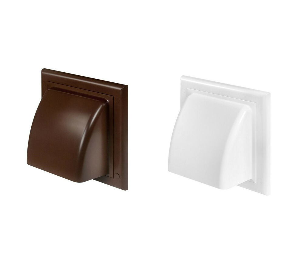 Cowled wall outlet non return gravity flap cowl ducting
