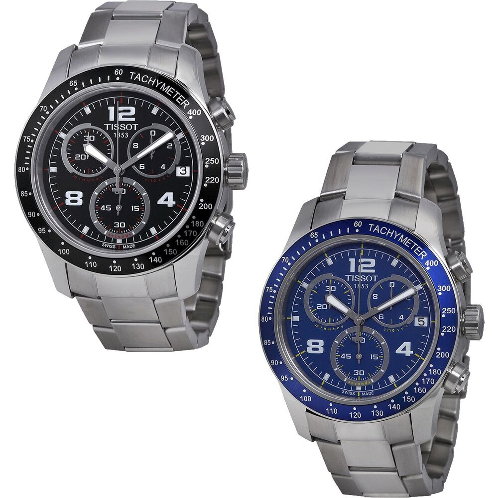 tissot v8 t sport swiss made chronograph stainless steel