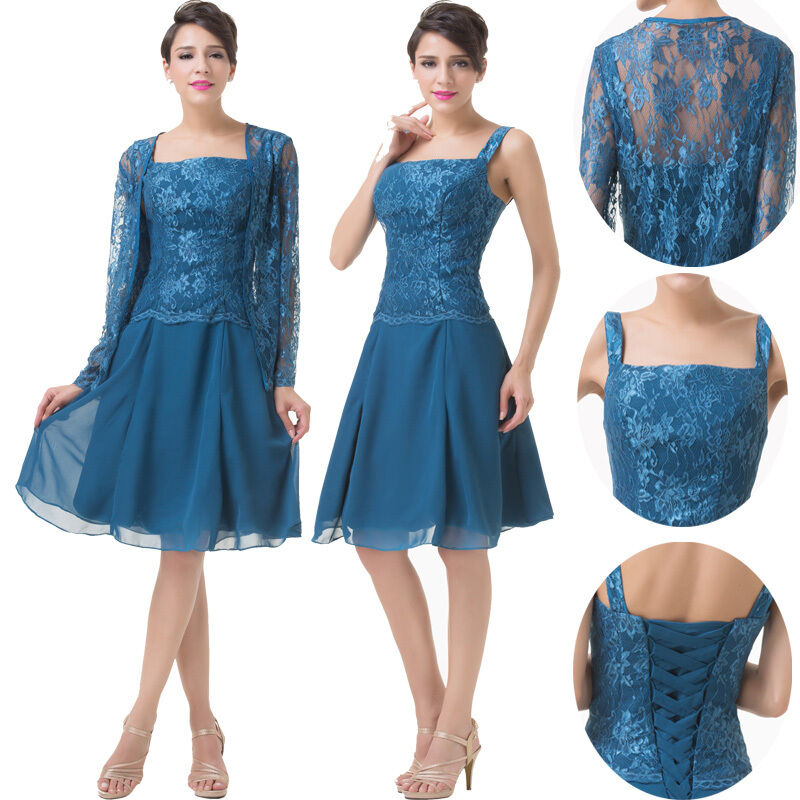 Lace chiffon mother of the bride dress formal wedding for Dresses for mother of the bride winter wedding
