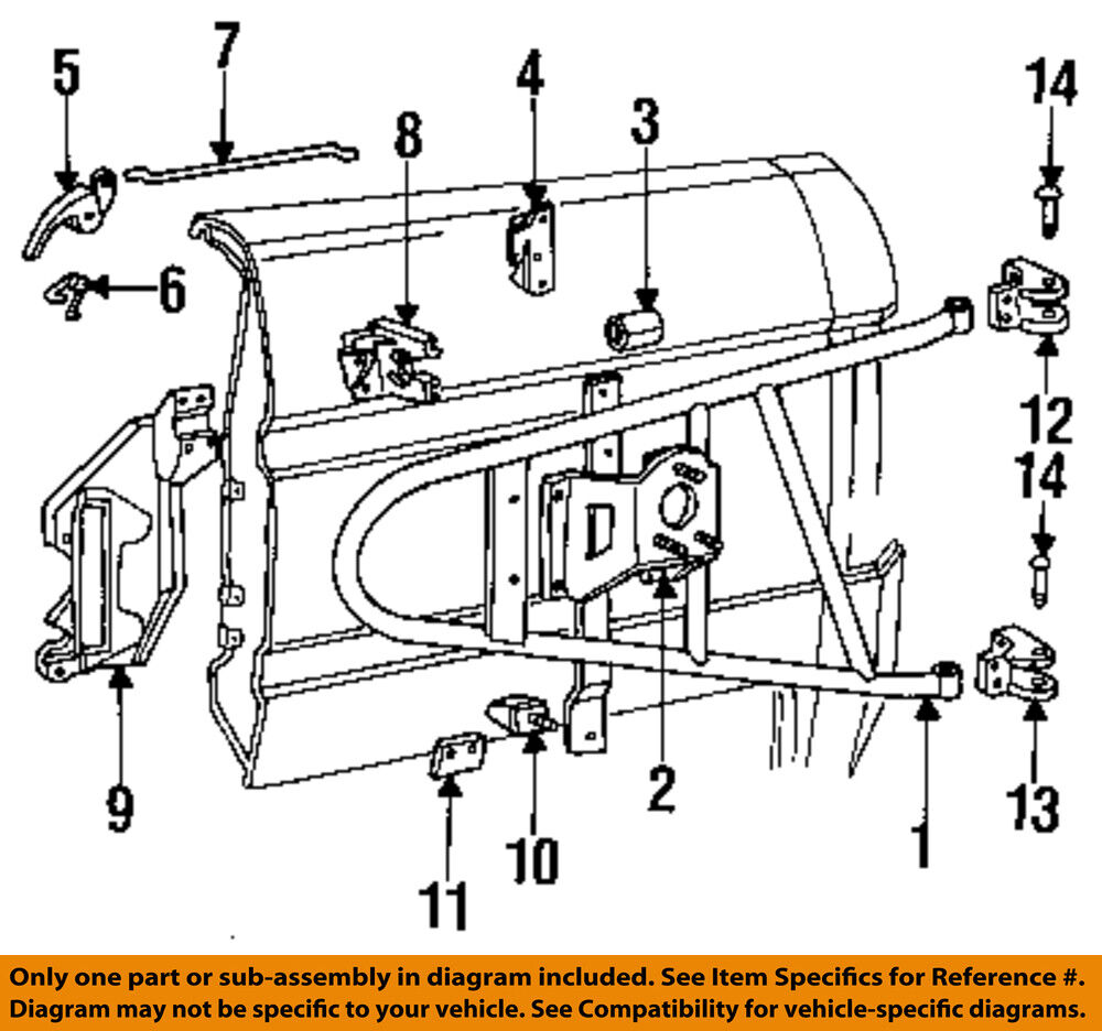 2001 f150 spare tire carrier diagram ford oem 87-96 bronco spare tire carrier-upper hinge ... 1930 chevy sedan spare tire mount