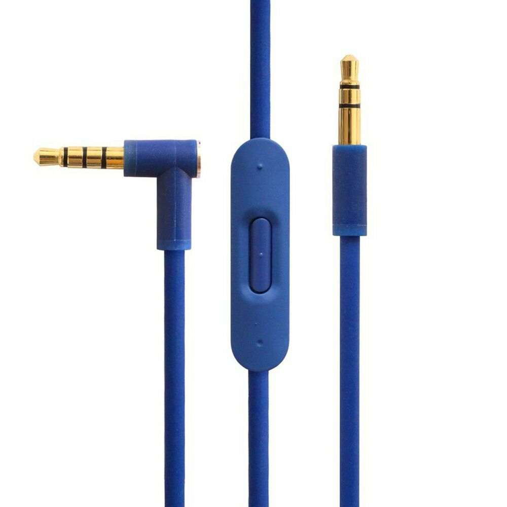 V2 Blue Control Talk Cable For Dr Dre Beats With Mic ...