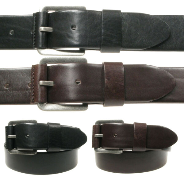 Vitali V_ritable Cuir Luxueux Hommes Jeans Ceinture Made in Italy 3908