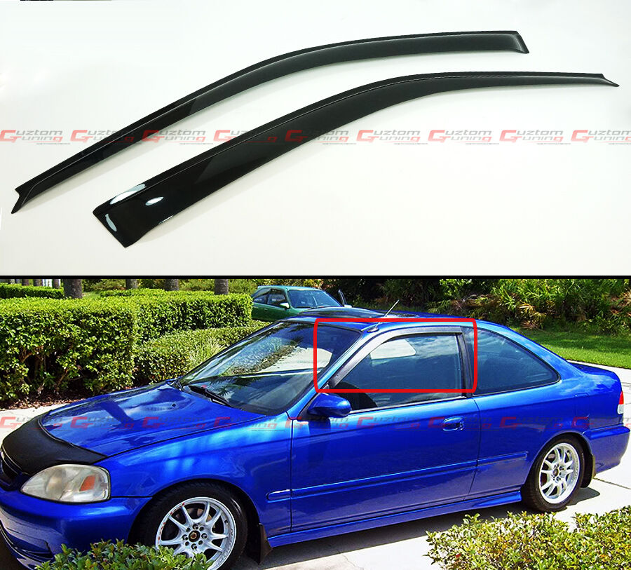 For 96 00 honda civic coupe hatchback jdm smoke tinted for Honda civic coupe hatchback