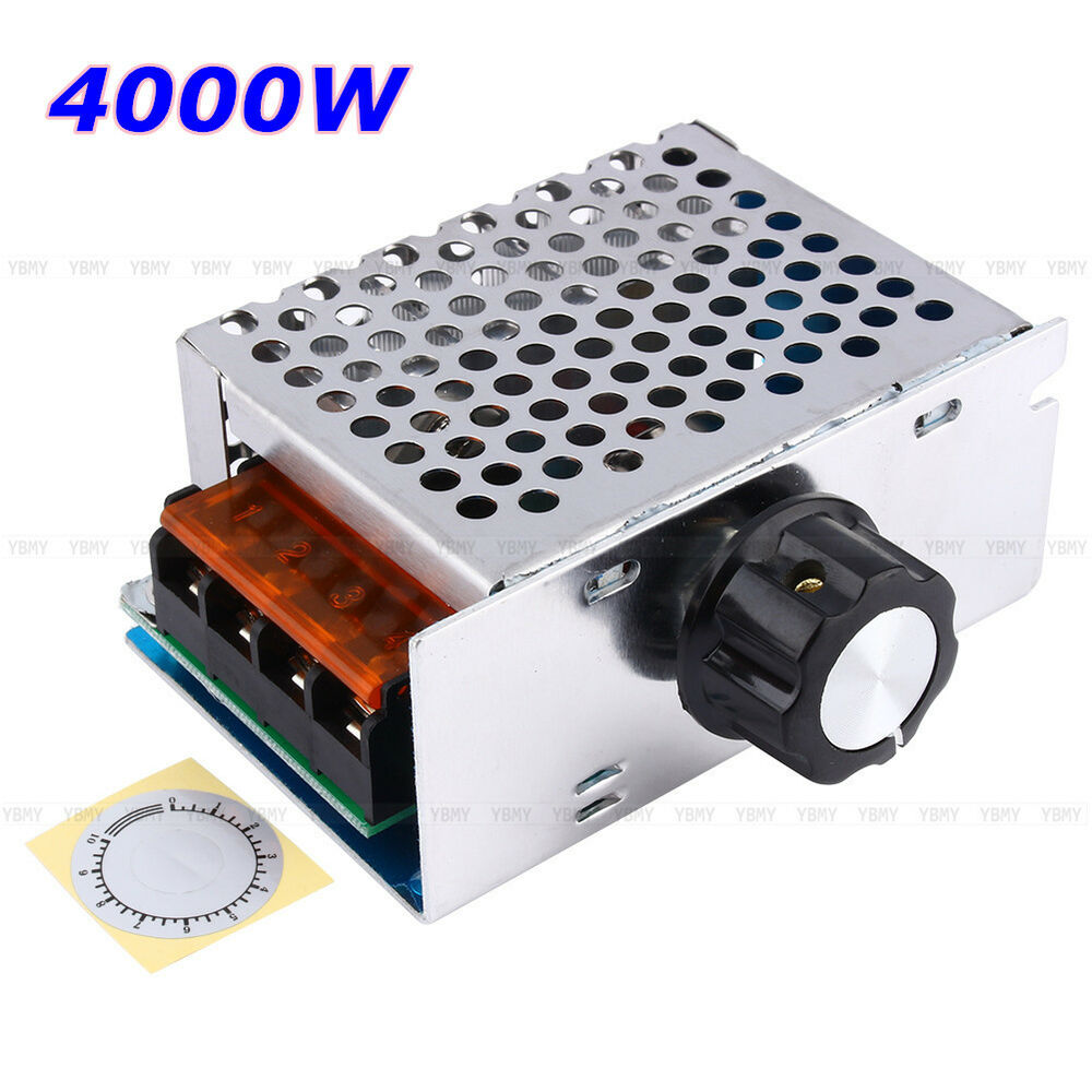 High Power 4000w Ac 220v Scr Speed Controller Motor