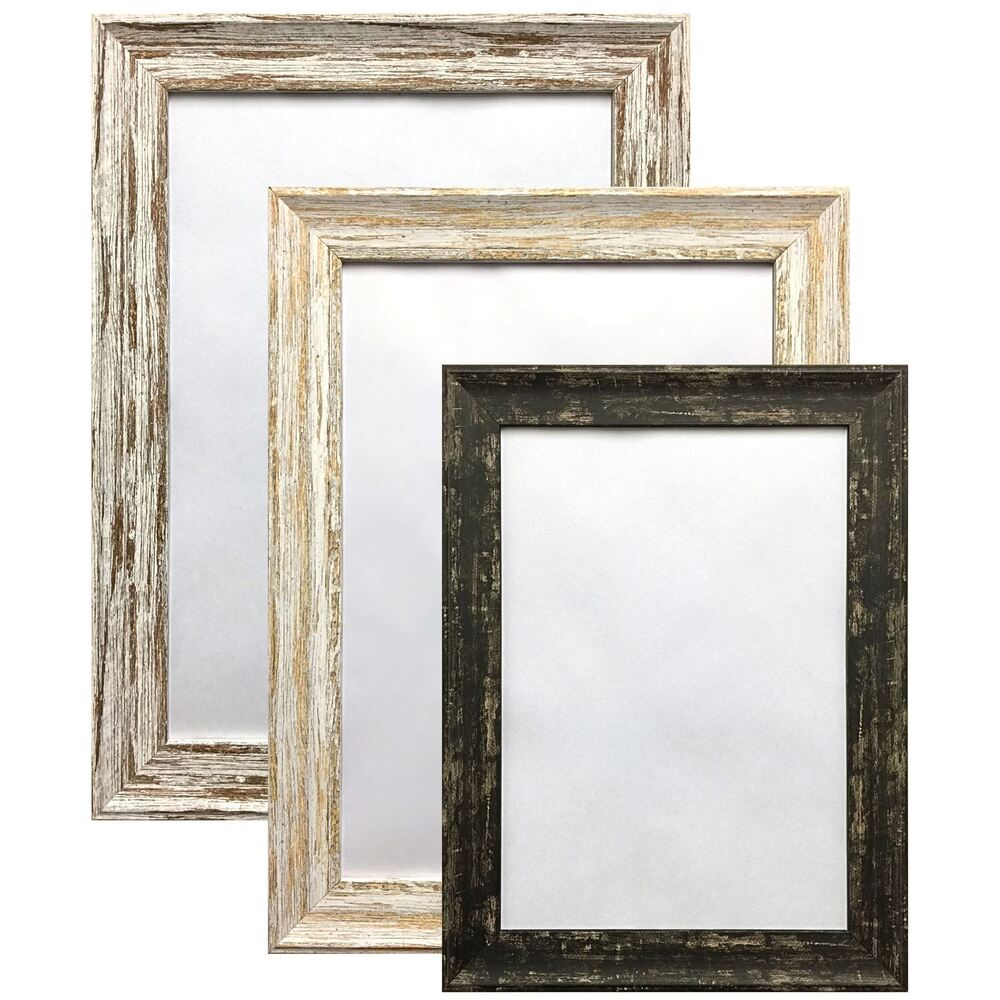 Vintage Distressed Wood Effect Photo Picture Poster Frame