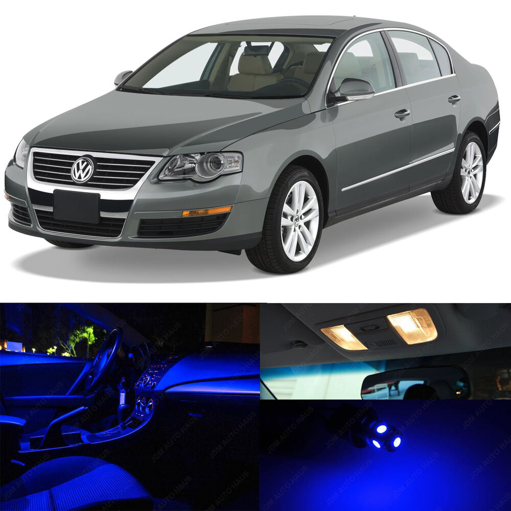 12x Blue Interior Led Lights Package Kit For 2006 2011 Volkswagen Passat B6 Vw Ebay