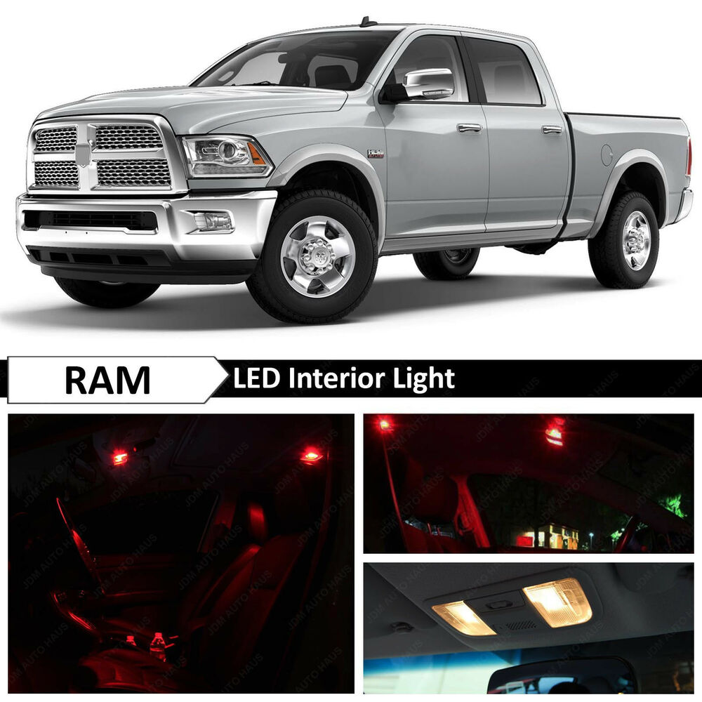 12x Red Interior Led Lights Package Kit For 2009 2014 Dodge Ram 1500 Ebay