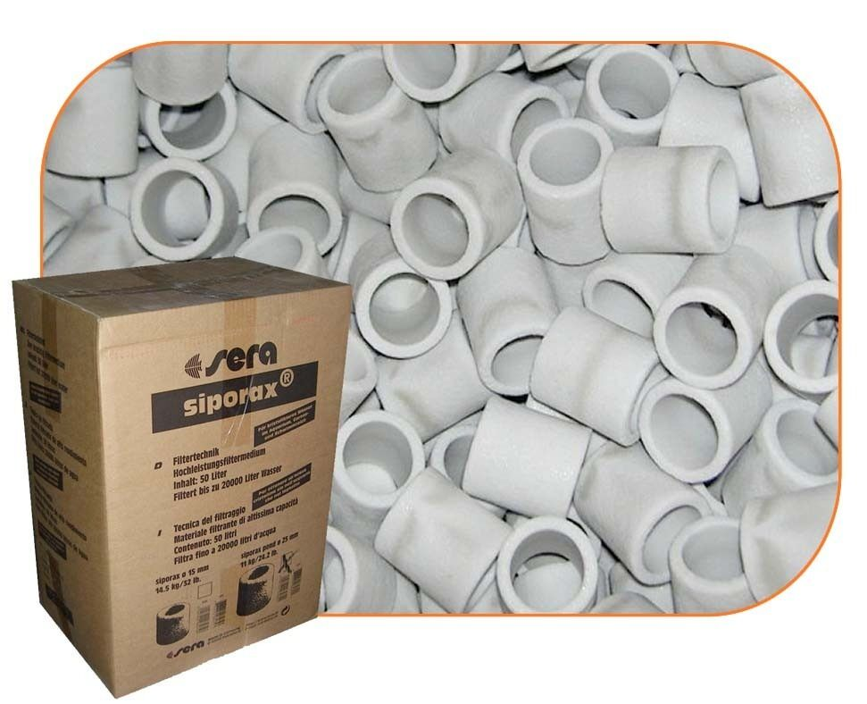 Siporax pond bio rings 25mm for marine tank pond sumps for Biological pond filter