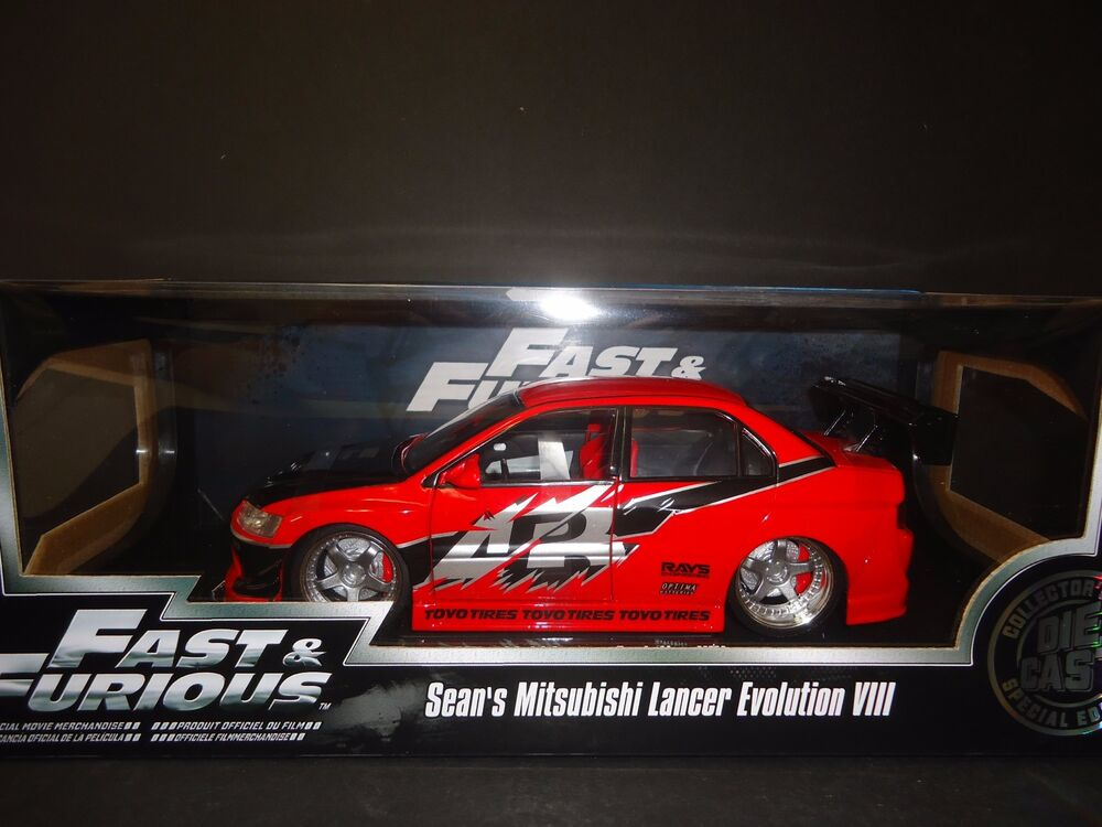 Jada Mitsubishi Lancer Evolution VIII Sean's Car Fast and Furious 1/18 | eBay