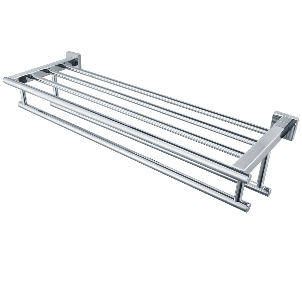 Kes 24 Inch Stainless Steel Bathroom Shelves Towel Rack With Double Towel Bar Ebay