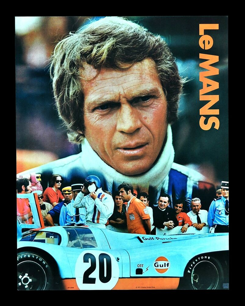 Le mans cinemasterpieces lemans movie poster steve for Garage automobile le mans