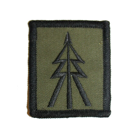img-Olive Green Subdued Recce Tree Badge ( Reconnaissance Corp Platoon Troop TRF