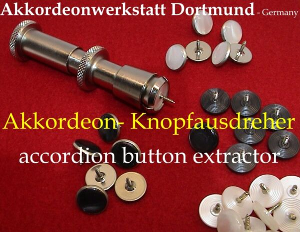 Akkordeon- Werkzeuge - Knopfausdreher, Accordion tool - button extractor