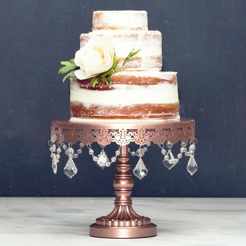 Round Cake Stand Metal 10 Quot Crystal Wedding Display