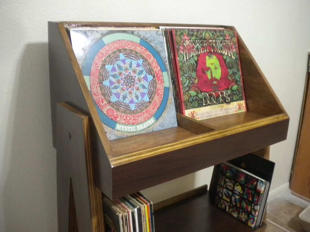 Fully Customizable Stain Grade Vinyl Record Display And