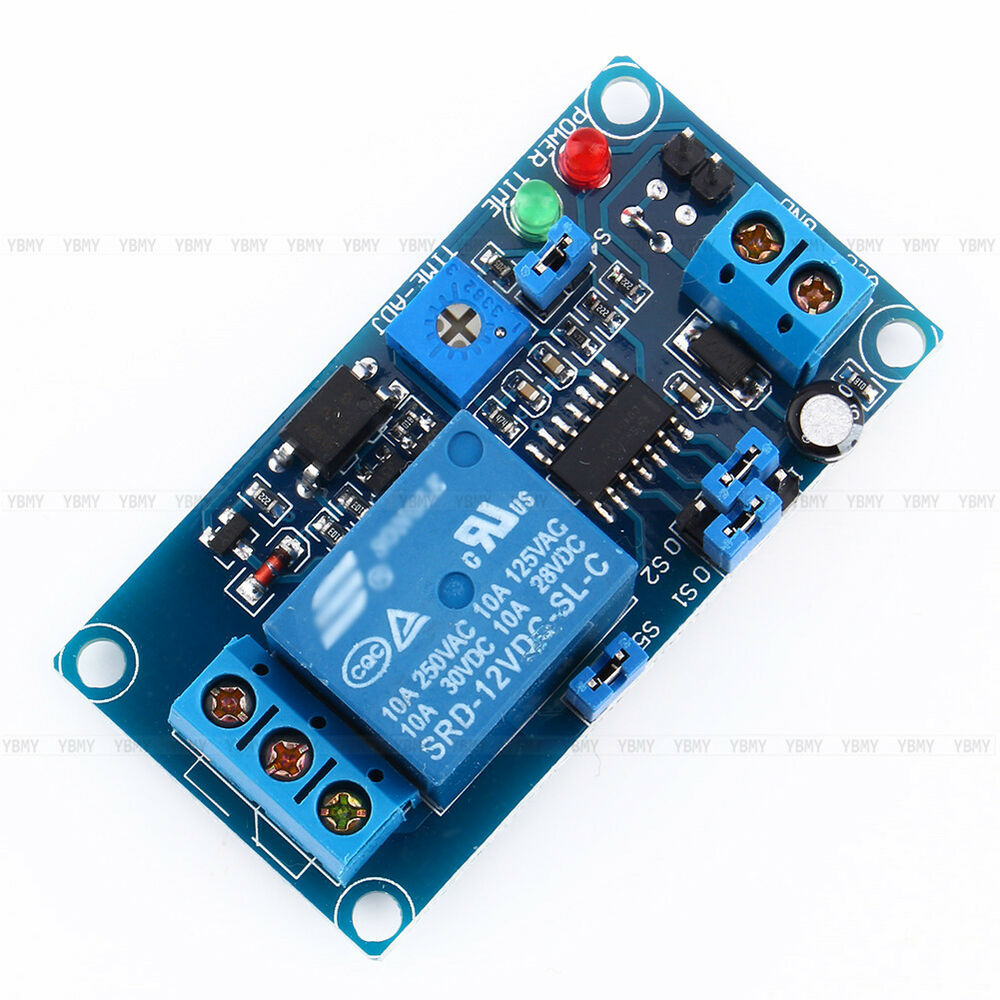 1pcs 12v Dc Delay Relay Delay Turn Off Switch Module With