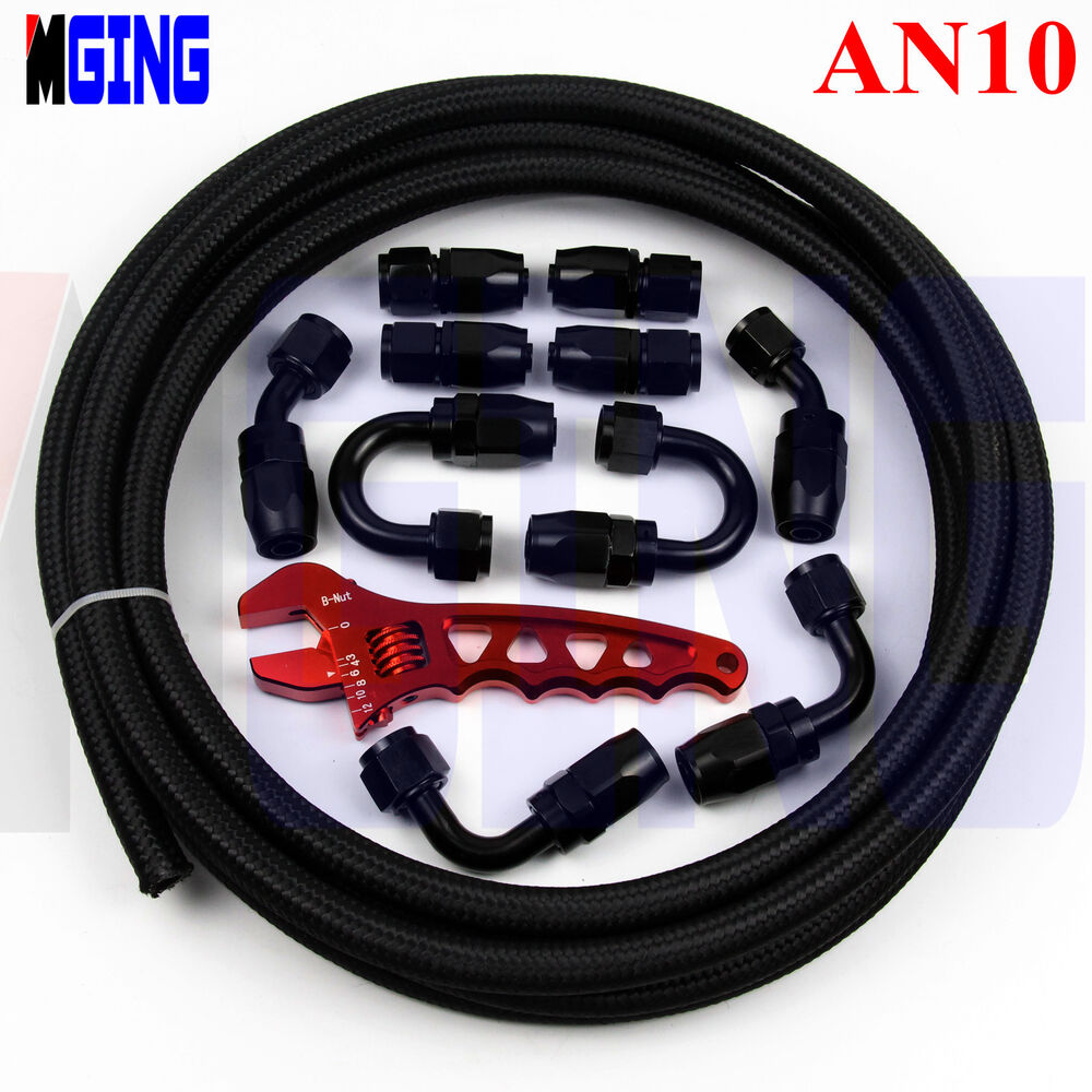 An hose end fitting oil fuel line steel nylon