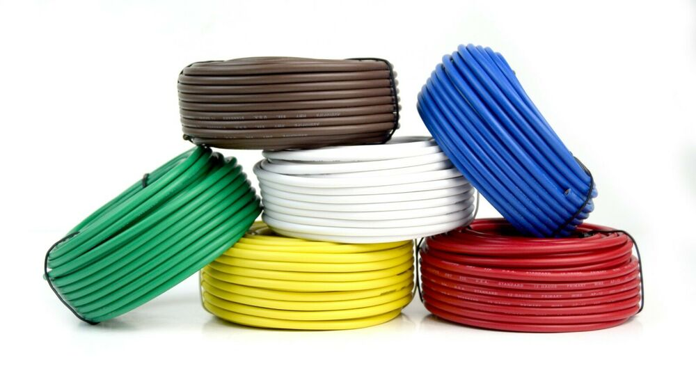 6 Way Trailer Wire Light Cable for Harness 50 FT Each Roll 12 Gauge ...