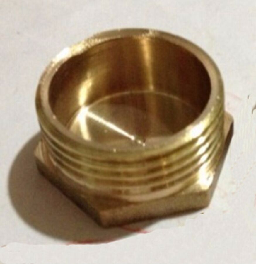 Quot bsp male thread brass pipe countersunk plug