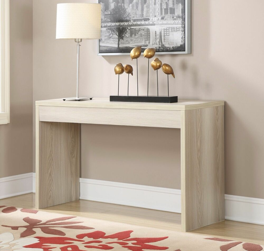 Contemporary console table sofa wood hallway accent for Living room sofa table decorating