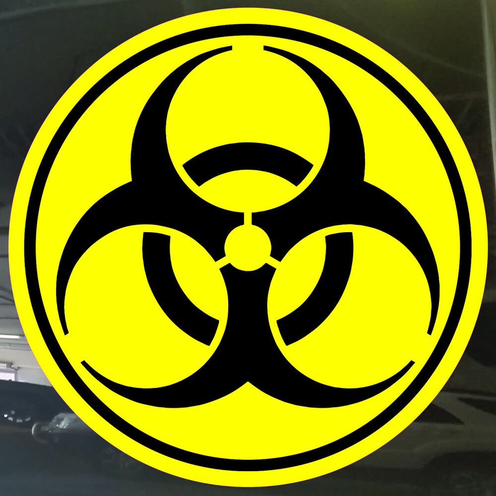 hazard bomb toxic circle symbol gas sign vinyl cut skate