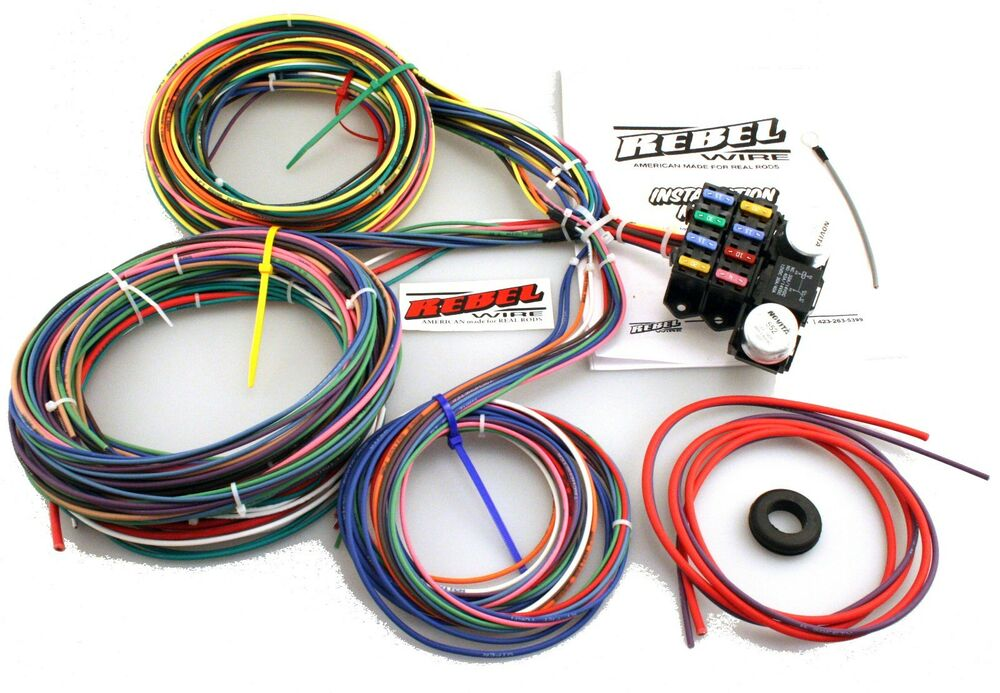 rebel 8 circuit wire harness usa made ebay