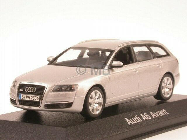 audi a6 c6 avant silber modellauto minichamps 1 43 ebay. Black Bedroom Furniture Sets. Home Design Ideas