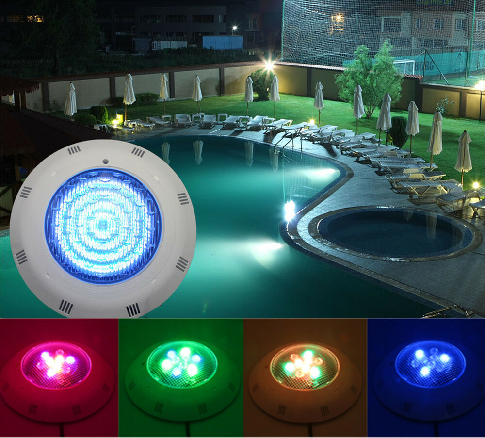 rgb 9w led underwater swimming pool light fountains lamp remote control new ebay