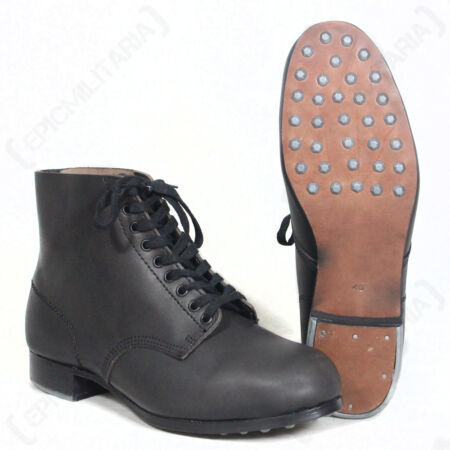 img-German Combat Low Boots - WW2 Repro Army Military Hobnail Leather All Sizes New