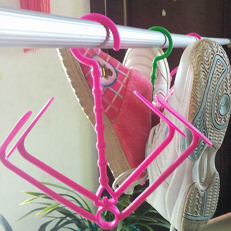 New 1pc creative multifunction folding hang drying shoe for Creative clothes hangers