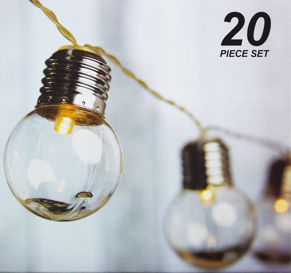 Led Shop Lights Connectable: 20 Piece LED Clear Festoon / Party String Light Kit