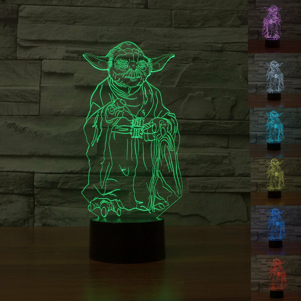 3d Star Wars 7 Colors Change Touch Switch Table Desk Lamp