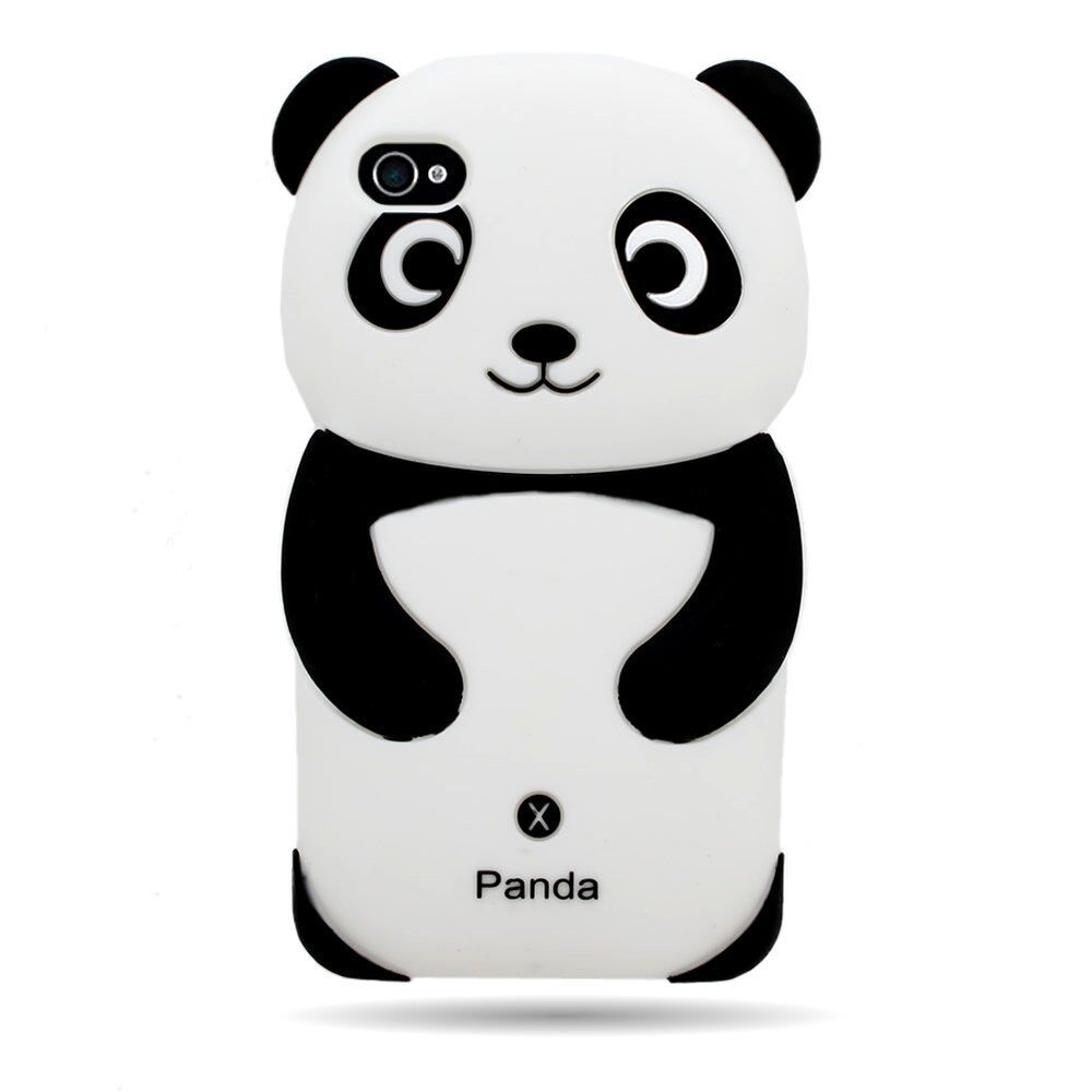 iPhone phone cases iphone 4s ebay : 3D Panda Silicone Gel Case for Applie iPhone 4 4S 4G : eBay