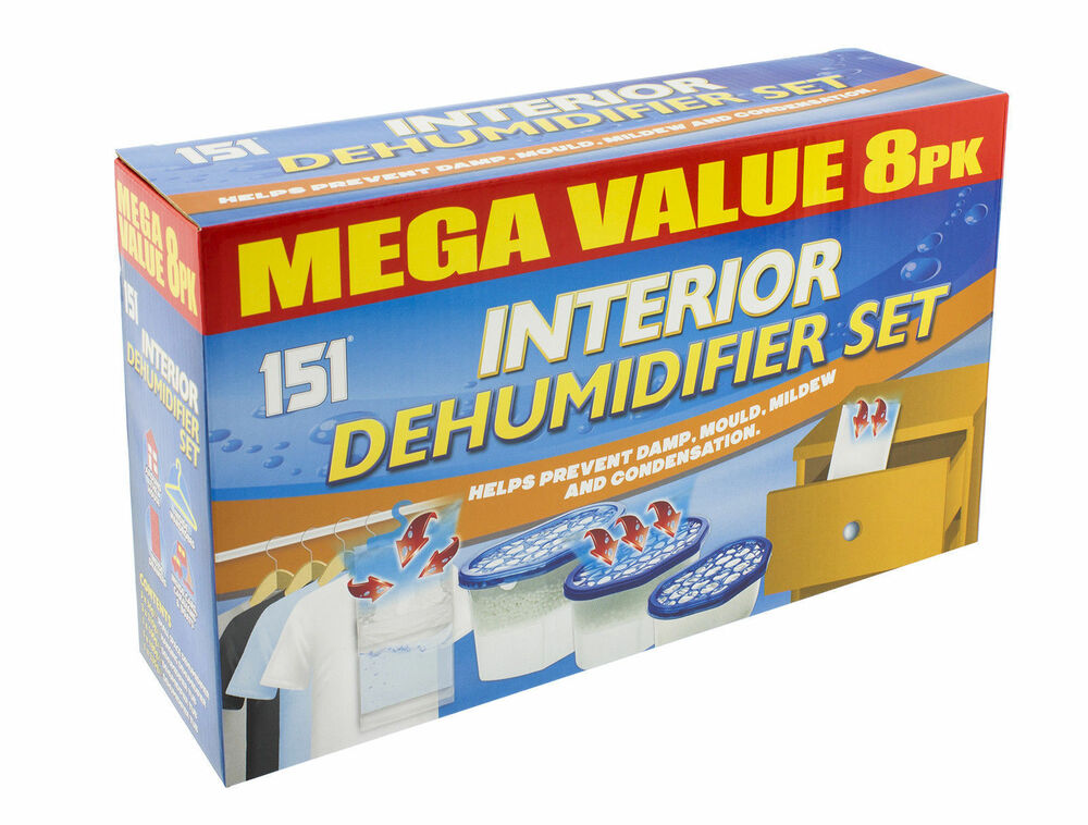 8 Pack Of Dehumidifiers Interior Set Stops Damp Mould Mildew Condensation Ebay