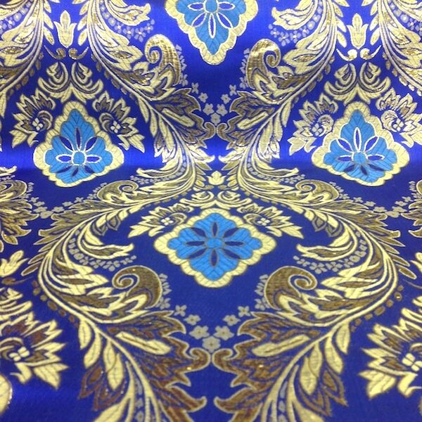 Metallic Floral Brocade Fabric 60\