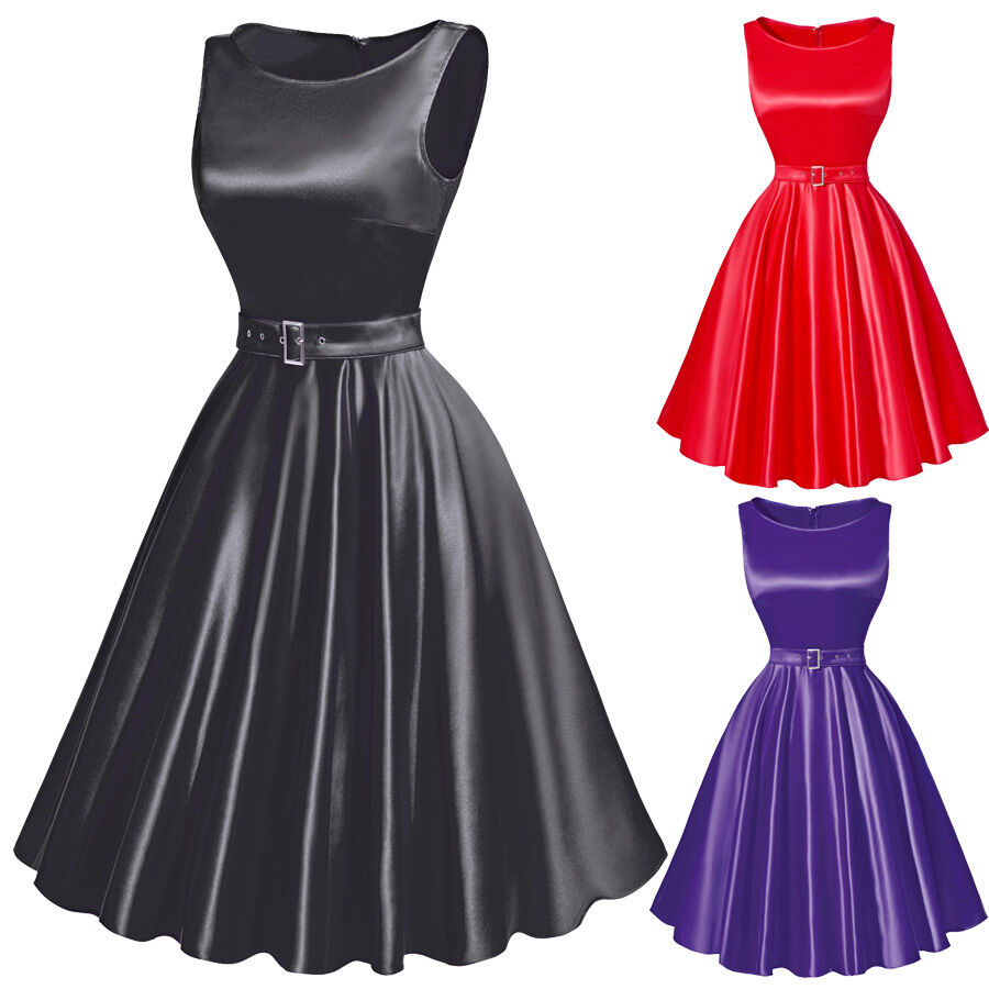Vintage 50s Party Dress Black Wedding Bridesmaid Dress Prom Ball Gown
