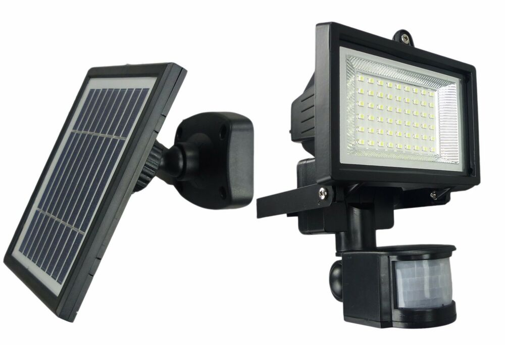 Solar Powered Motion Sensor Activated Led Flood Light
